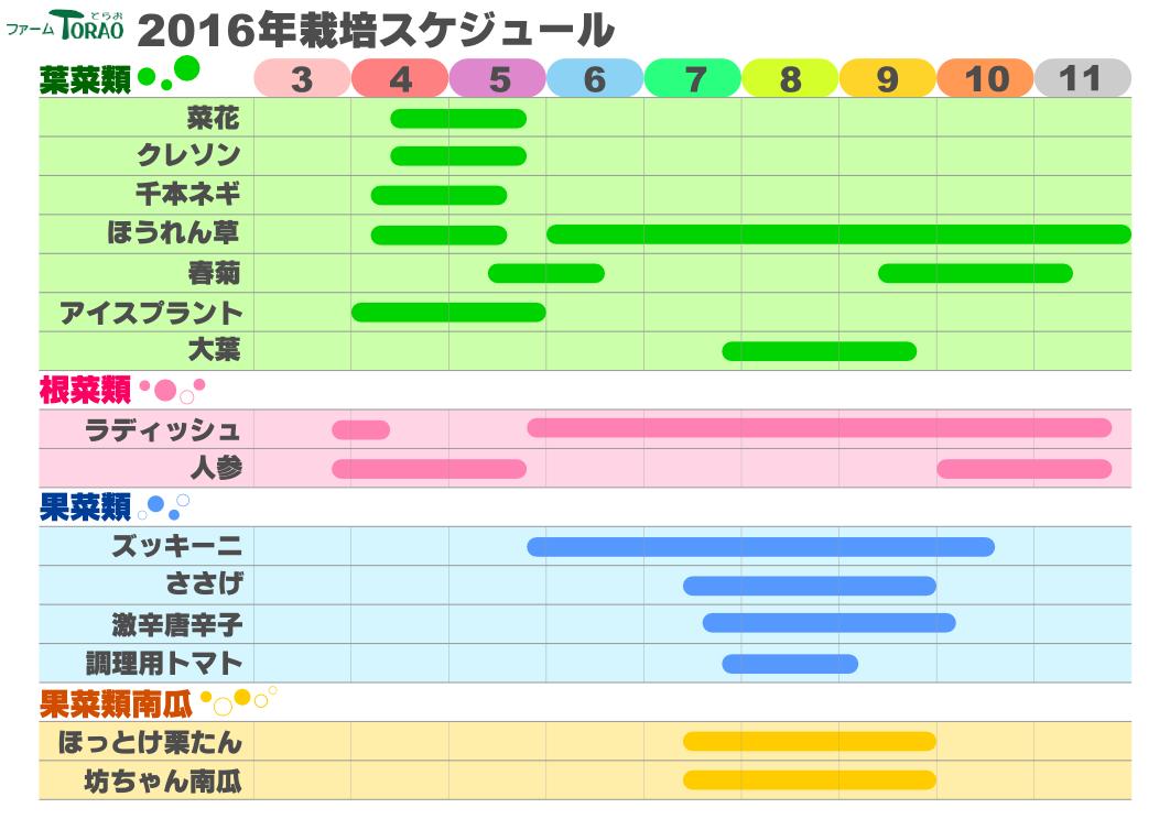 栽培スケジュール2016